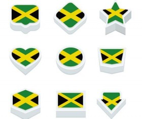 jamaica styles button vector