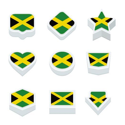 jamaica styles button vector