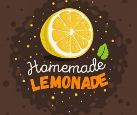 lemonade juice poster template vector 01