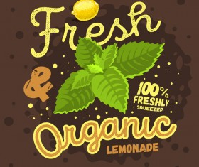 lemonade juice poster template vector 03