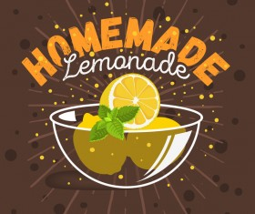 lemonade juice poster template vector 04