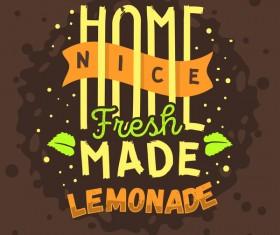 lemonade juice poster template vector 05
