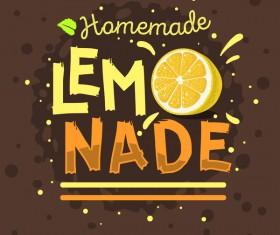 lemonade juice poster template vector 06