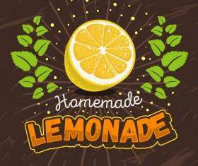 lemonade juice poster template vector 07