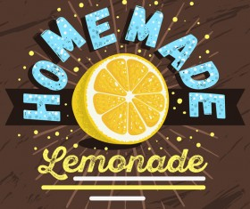 lemonade juice poster template vector 08