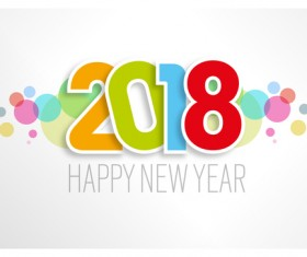 light color 2018 new year background vector