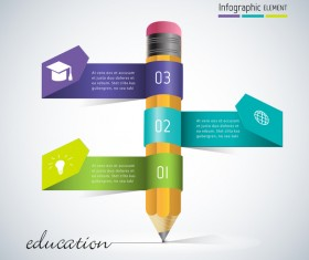 pencil education infographic vector