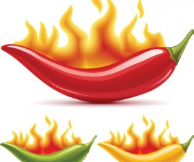 pepper with fire vector material