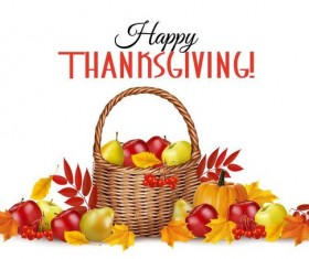 thanksgiving white background design vector 02