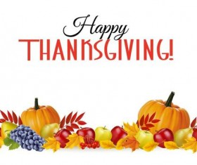 thanksgiving white background design vector 03