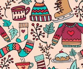 xmas cute pattern seamless vector