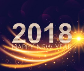 2018 new year abstract light background vector 01