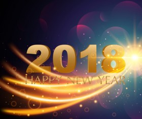 2018 new year abstract light background vector 02