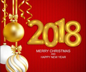 2018 new year and red fabric background vector