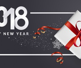 2018 new year black background with gift boxs vector 09