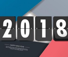 2018 new year business styles background vector