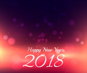 2018 new year halation background vector material