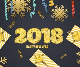 2018 new year holiday background vector