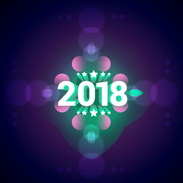 2018 new year purple vector background