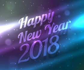 Abstract 2018 new year vector background