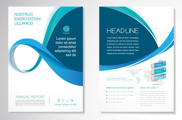 Abstract Business Flyer With Brochure Cover Template Vector 11 Free