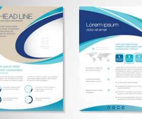 Abstract business flyer with brochure cover template vector 12
