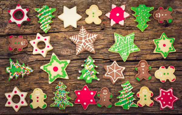 All Kinds Christmas Cookies Stock Photo 01 Free Download