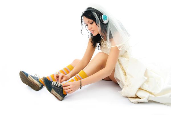 Alternative wedding photos Stock Photo 01