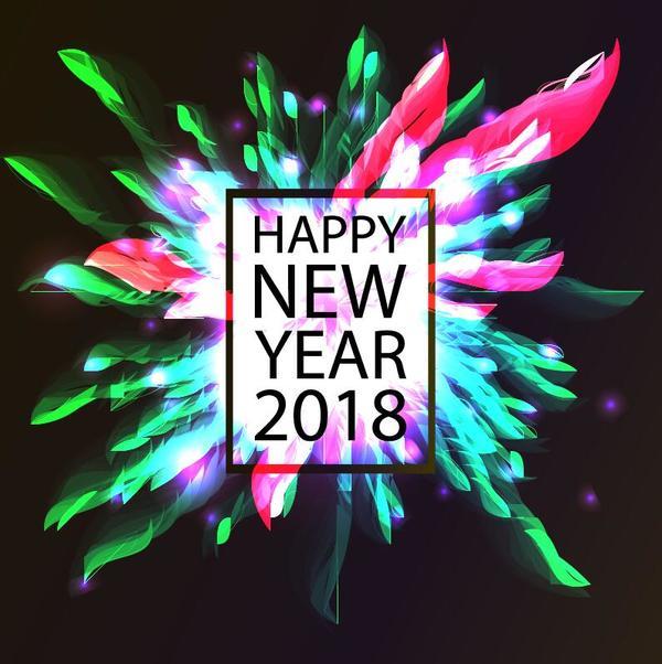 Amazing 2018 new year background creative vector
