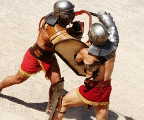 Ancient Roman gladiator Stock Photo 01