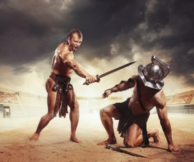 Ancient Roman gladiator Stock Photo 02