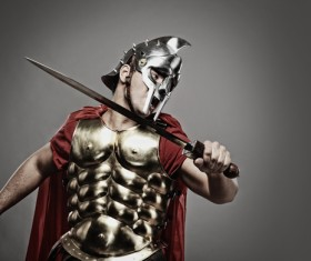 Ancient Roman soldiers Stock Photo 02