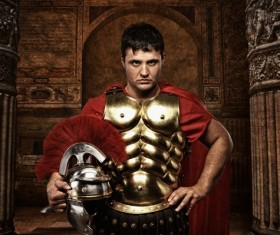 Ancient Roman soldiers Stock Photo 03