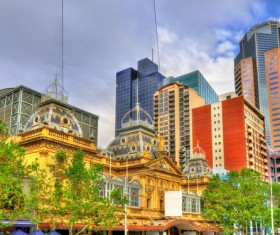 Australian city buildings Stock Photo 11