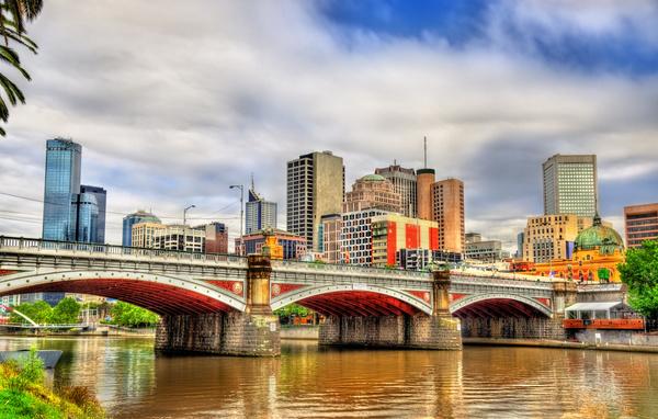 Australian city buildings Stock Photo 14