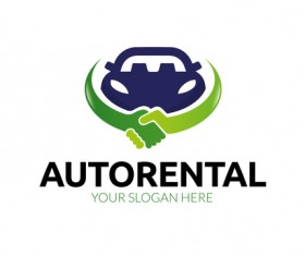 Auto rental logo vector