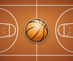 Basketball court overlooking background vector