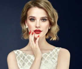Beautiful girl with fashion makeup Stock Photo 01
