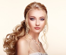 Beautiful girls with fashionable hairstyles and stylish make-up Stock Photo 02