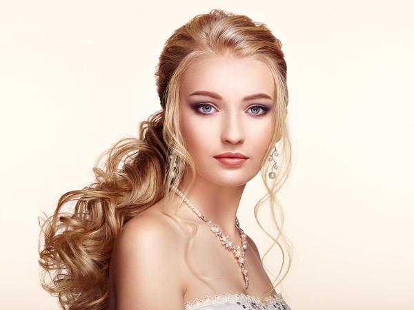Beautiful girls with fashionable hairstyles and stylish make up Stock Photo 02