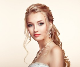 Beautiful girls with fashionable hairstyles and stylish make-up Stock Photo 03