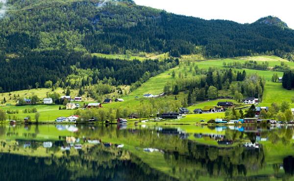 Beautiful Green Countryside Scenery Stock Photo