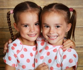 Beautiful twin sisters Stock Photo 01