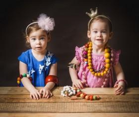 Beautiful twin sisters Stock Photo 02