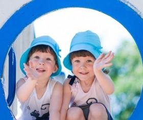Beautiful twin sisters Stock Photo 03