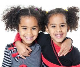 Beautiful twin sisters Stock Photo 04