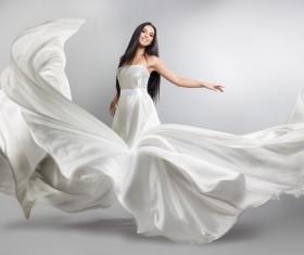 Beautiful woman Wedding dress Art photo Stock Photo