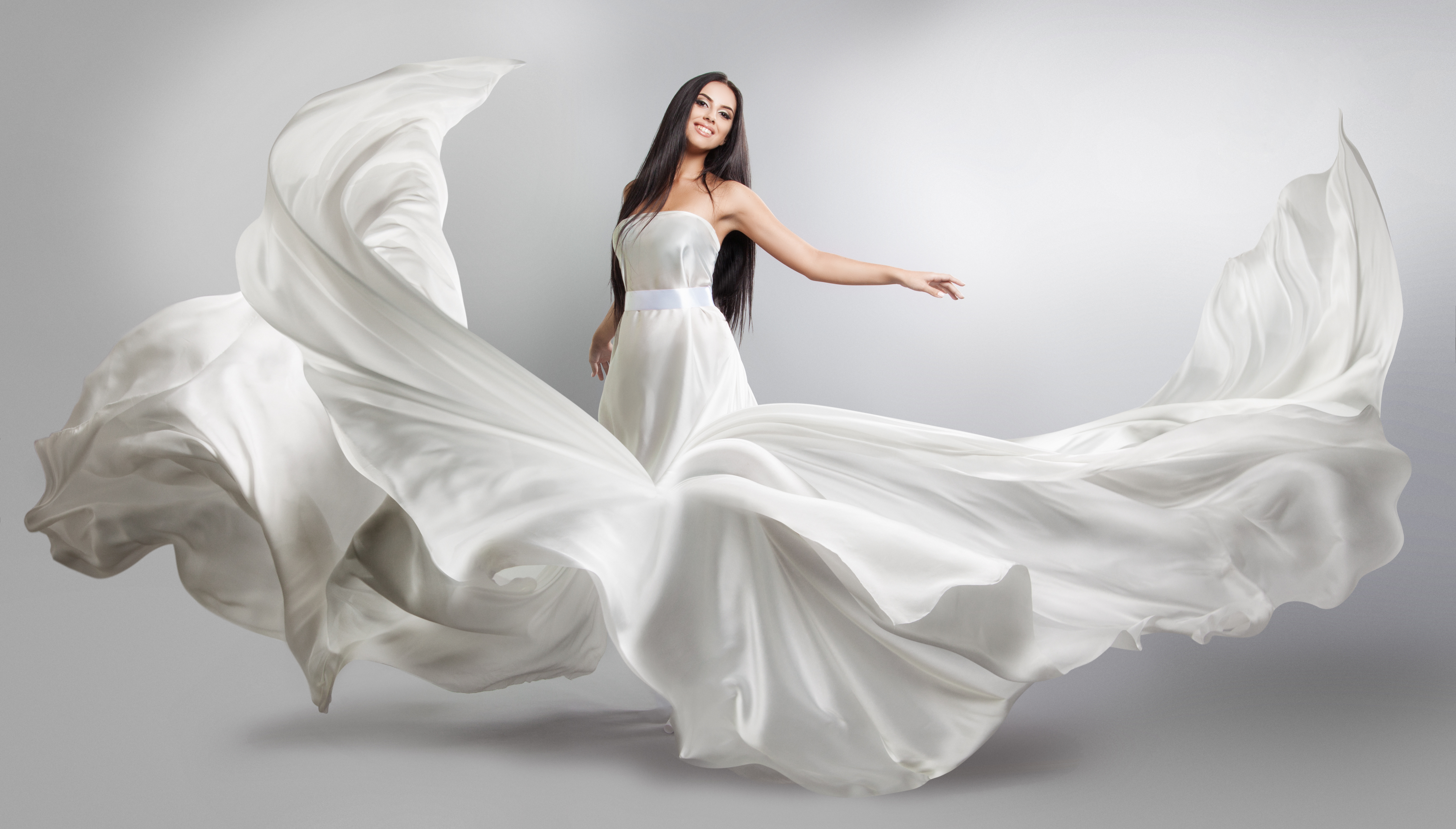 Beautiful woman Wedding dress Art photo Stock Photo