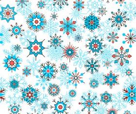 Beautifule snowflake decorative pattern seamless vector