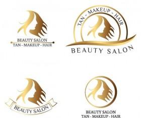 Beauty salon logos design vector